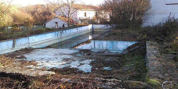 Rénovation piscine avant